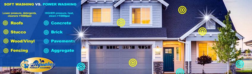 Soft Washing vs. Power Washing Your Home