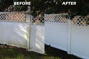 Vinyl Fence Before After