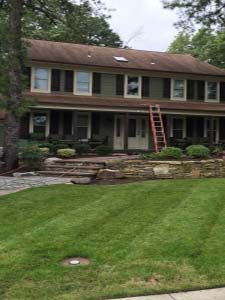 Soft wash roof cleaning voorhees before